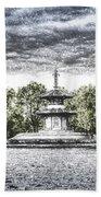 The Pagoda In The Snow Beach Towel