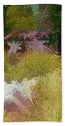 The Painted Garden Beach Towel