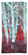 The Pale Trees Of Winter Beach Towel