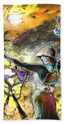 The Parable Of The Sower Beach Towel by Miki De Goodaboom