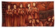 The Parable Of The Ten Virgins Beach Towel