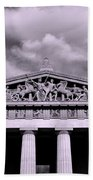 The Parthenon In Nashville Tennessee Black And White Beach Towel