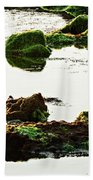 The Passetto Rocks And Water, Ancona, Italy Beach Towel