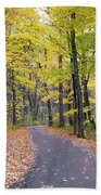 The Pathway To Fall Beach Towel