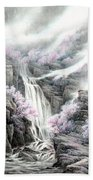 The Peach Blossoms In The Mountains Beach Towel