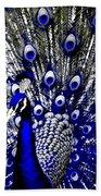 The Peacock Fan Beach Towel