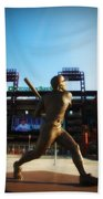 The Phillies - Mike Schmidt Beach Towel by Bill Cannon