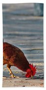 The Picking Rooster Beach Towel