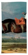 The Piebald Horse Beach Towel