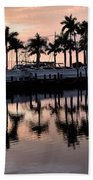 Reflecting Palms At The Pier 22 Beach Towel