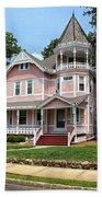 The Pink House 2 Beach Towel