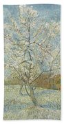 The Pink Peach Tree Arles, April - May 1888 Vincent Van Gogh 1853  1890 Beach Towel
