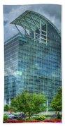 The Pinnacle Reflections Office Buildings Buckhead Atlanta Art Beach Towel