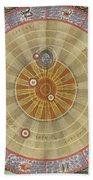 The Planisphere Of Copernicus Harmonia Beach Towel