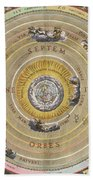 The Planisphere Of Ptolemy, Harmonia Beach Towel by Science Source