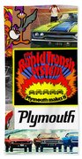 The Plymouth Rapid Transit System Collage Beach Towel