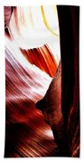 The Polished Rocks Of Lower Antelope Canyon Beach Towel