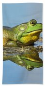 The Pond King Beach Towel