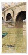 The Pont Marie. Paris Beach Towel