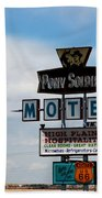 The Pony Soldier Motel On Route 66 Beach Towel