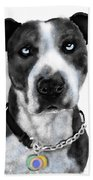 The Pooch With Blue Eyes Beach Towel