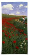 The Poppy Field Beach Towel