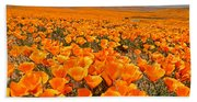 The Poppy Fields - Antelope Valley Beach Towel