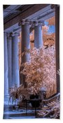 The Porch Of The European Collection Art Gallery At The Huntington Library In Infrared Beach Towel