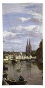 The Port At Quimper Beach Towel