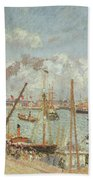 The Port Of Le Havre In The Afternoon Sun Beach Towel