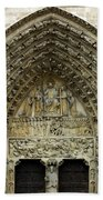 The Portal Of The Last Judgement Of Notre Dame De Paris Beach Towel by Fabrizio Troiani