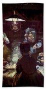 The Potato Eaters, By Vincent Van Gogh, 1885, Kroller-muller Mus Beach Towel
