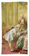 The Presentation Of The Young Mozart To Mme De Pompadour At Versailles Beach Towel