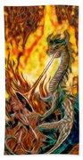The Prince Battles The Dragon Beach Towel