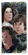 The Princess, The Knight And The Scoundrel Beach Towel