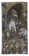 The Procession In The Streets Of Jerusalem Beach Towel