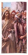 The Question Of The Sadducees Beach Towel