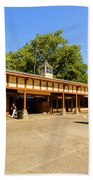 The Railroad Station In Scarsdale Beach Towel