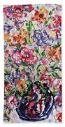 The Rainbow Flowers Beach Towel