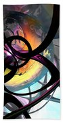 The Randomness Of It All Abstract Beach Towel