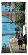 The Reception Of Benjamin Franklin In France Beach Towel