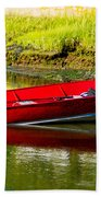 The Red Boat Beach Towel
