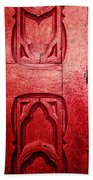 The Red Church Door Beach Towel