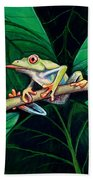 The Red Eyed Tree Frog Beach Towel