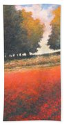 The Red Field #2 Beach Towel