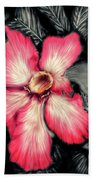 The Red Flower Beach Towel by Darren Cannell