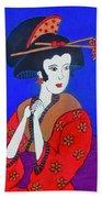 The Red Geisha Beach Towel
