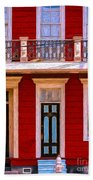 The Red House-nola-faubourg Marigny Beach Towel