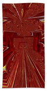 The Red Palace In Abstract Beach Towel