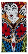 The Red Queen Beach Towel by Jani Freimann